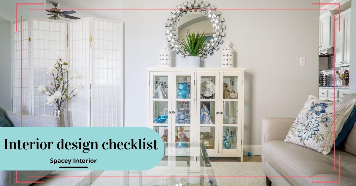 Interior design checklist